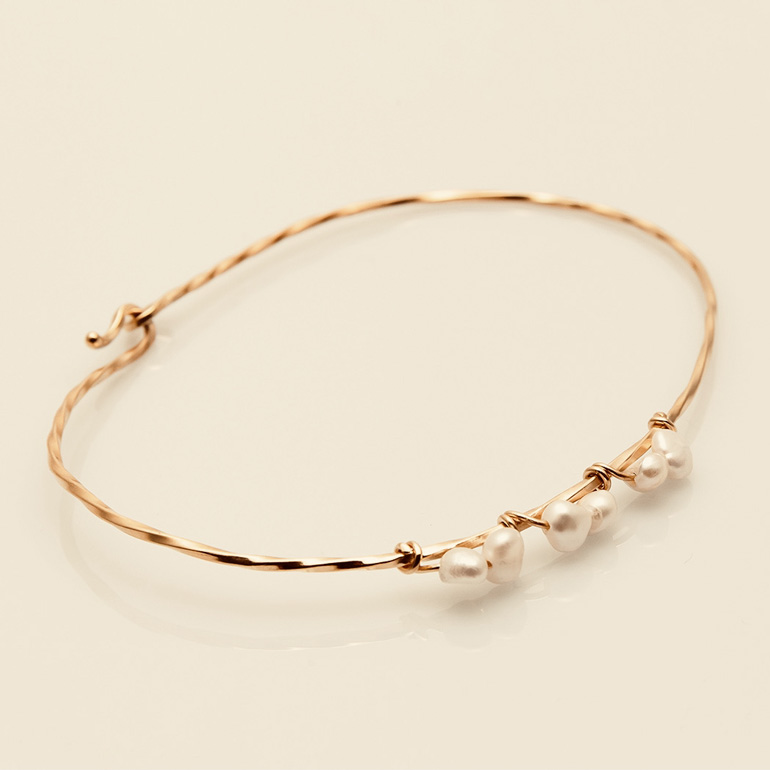 TWISTED BABY PEARL ANKLET
