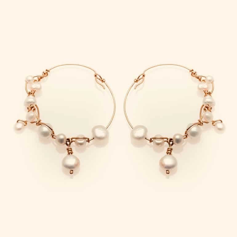 BOHEMIAN twisted pearl earring